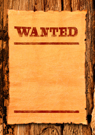 Wanted blank poster Stock Photo