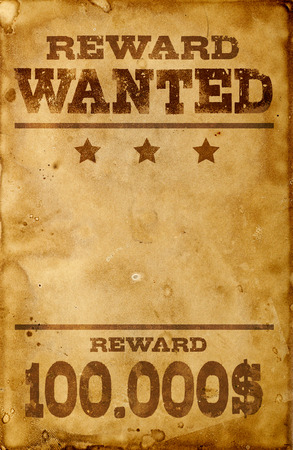Wanted poster Stockfoto