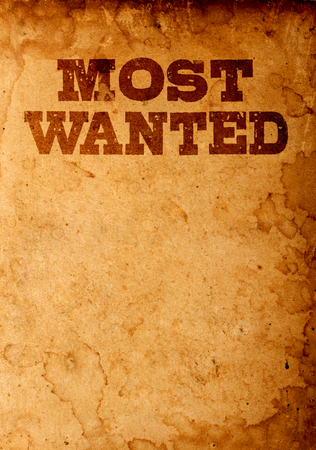 Most wanted poster Stockfoto