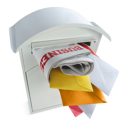 Mailbox full with correspondence