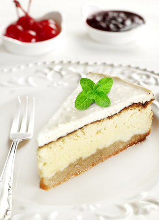 Cake slice on plate