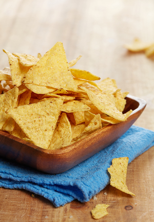 Tortilla chips close-up