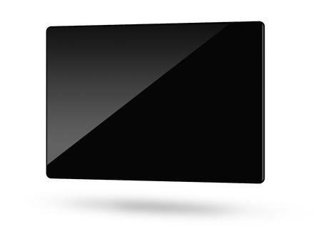 Blank black monitor Stock Photo