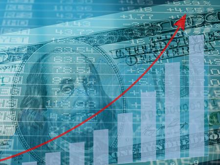 Abstract stock market chart