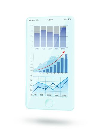 Futuristic mobile phone interface Stock Photo - 114975649