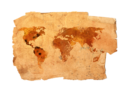 World map isolated on white 写真素材
