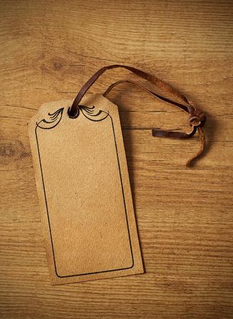 Price tag on wood