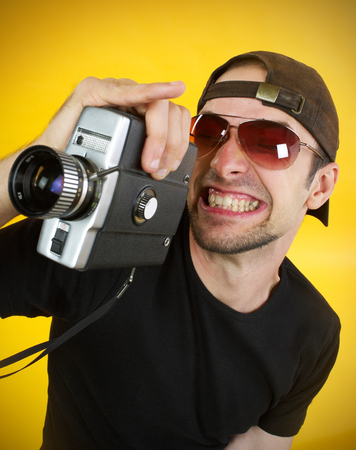 Passion for movies Stock Photo