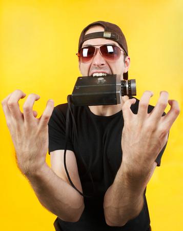 Crazy cameraman concept