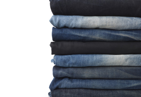 Jeans stack close-up