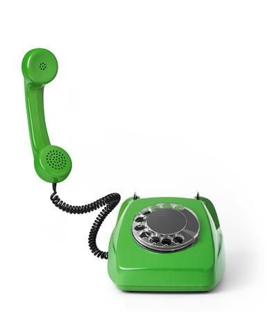 Vintage phone on white background 写真素材 - 118908758