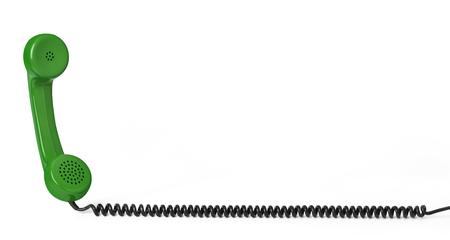 Receptor y cable telefónico Foto de archivo