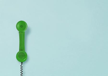 Vintage telephone receiver 写真素材