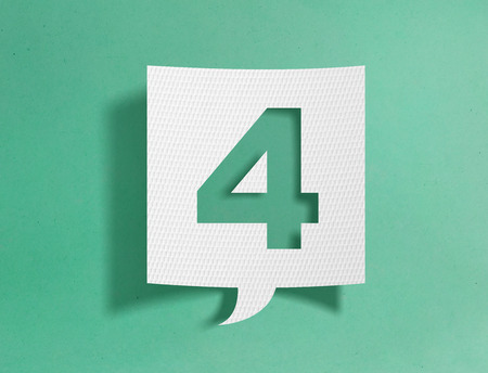 Speech bubble with number 4