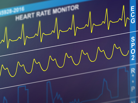 EKG cardiac frequency Фото со стока
