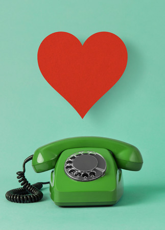 Love telephone concept Stock Photo - 120336515
