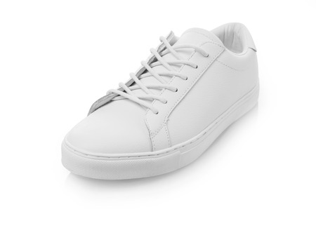 White shoes on white background Stok Fotoğraf