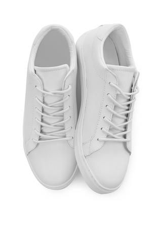 White shoes isolated 스톡 콘텐츠