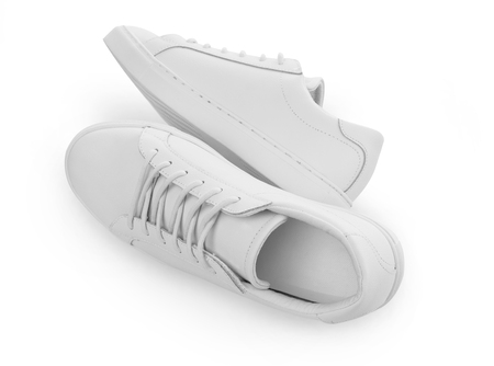 White shoes on white background 스톡 콘텐츠