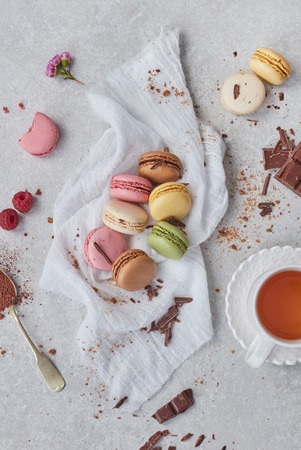 Home made colorful macaroons