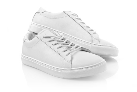 New white leather shoes