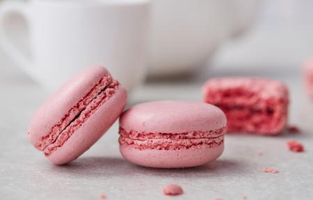 Pink macaroons close-up