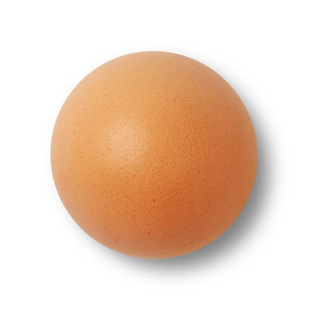 Brown egg isolated on white 스톡 콘텐츠