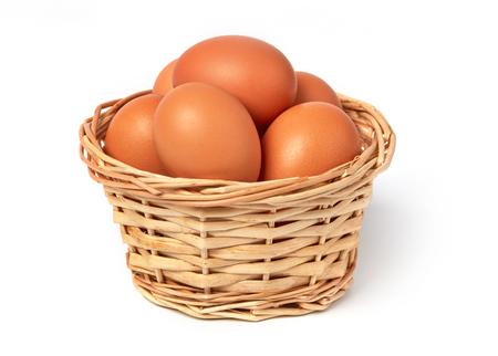 Farm eggs in a basket