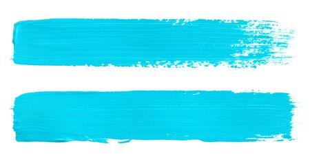 Aquarellstrich isoliert auf weiß