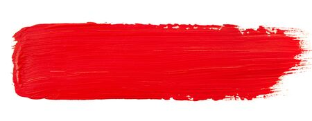 Watercolor red paint on white