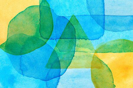 Multi colored watercolor spots background Imagens