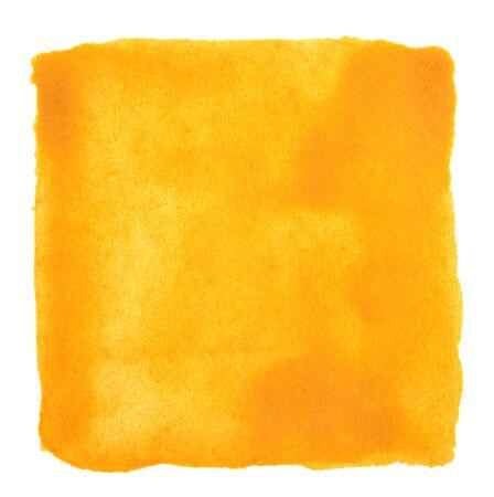 Watercolor yellow stroke square