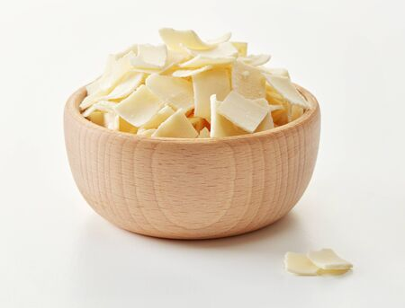 Parmesan flakes in a bowl Imagens
