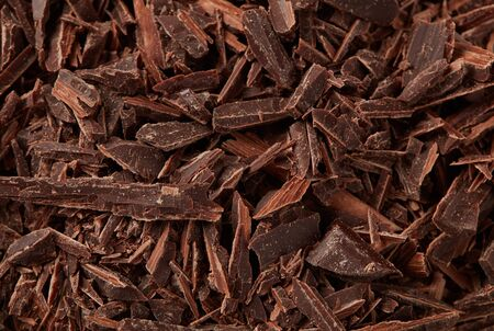 Chopped chocolate close-up detail background