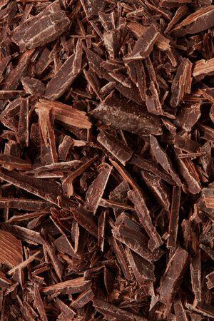 Milk chocolate chopped, closeup detail