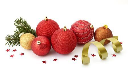 Christmas balls isolated on white Stock Photo