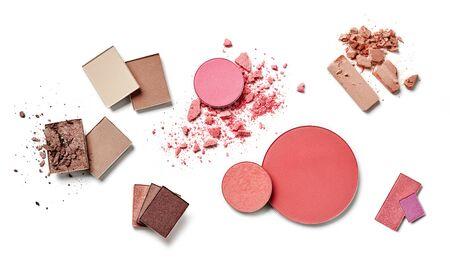 Makeup powders variety on white