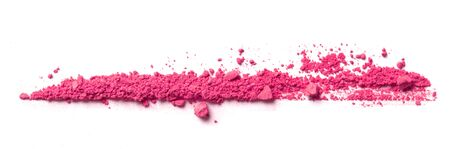 Pink eye shadow powder on white background Imagens