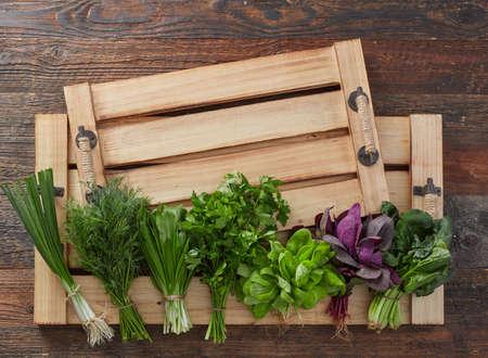 Farmers's market herb leafs 版權商用圖片