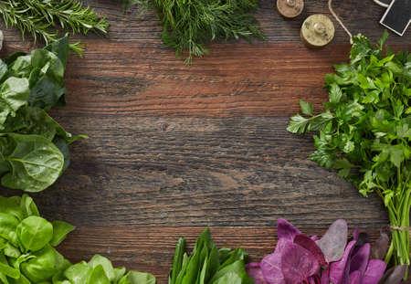 Fresh herbs frame 版權商用圖片