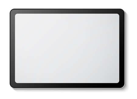 Digital tablet mockup on white