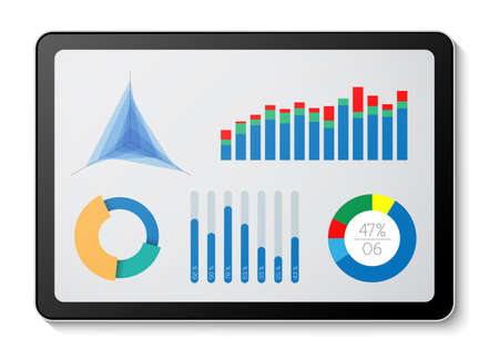 Minimalist data projection  on a digital tablet