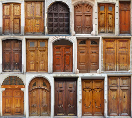 Old brown traditional doors collection