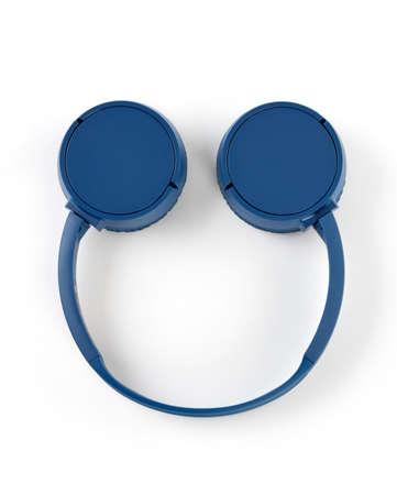 Smiley face headphones on white