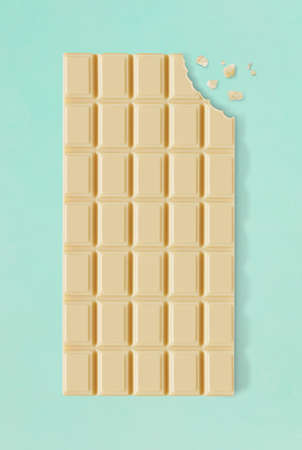 White chocolate with bite 免版税图像