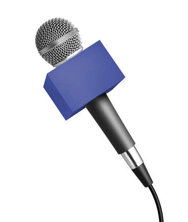Wireless microphone isolated on white 免版税图像