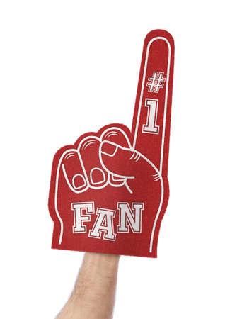 Best fan foam finger isolated on white