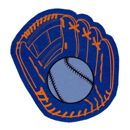 Baseball foam hand isolated on white 免版税图像