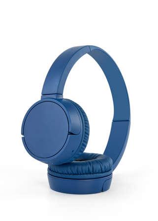 Pastic headphones on white background