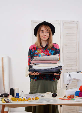 Young fashion designer proud of her textiles